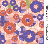 seamless floral pattern... | Shutterstock .eps vector #1157559883
