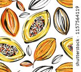 tropical seamless pattern with... | Shutterstock . vector #1157564119