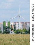 wind turbine general view... | Shutterstock . vector #1157570773
