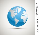 flat planet earth icon. vector... | Shutterstock .eps vector #1157571610