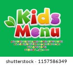 vector colorful logo kids menu. ... | Shutterstock .eps vector #1157586349