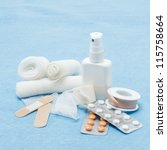 content of first aid kit... | Shutterstock . vector #115758664
