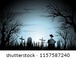 Halloween Cemetery Background...