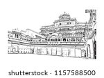 city palace  jaipur  which... | Shutterstock .eps vector #1157588500