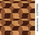 abstract decorative wooden... | Shutterstock . vector #115759000