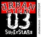 stylish trendy slogan tee t... | Shutterstock .eps vector #1157593249