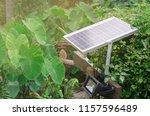 using solar energy to generate... | Shutterstock . vector #1157596489