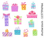 vector illustration flat gift... | Shutterstock .eps vector #1157596966