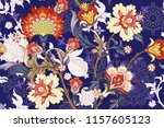 seamless pattern with stylized... | Shutterstock .eps vector #1157605123