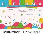 modern colorful diploma... | Shutterstock .eps vector #1157613040