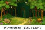 green grass plot with footpath...   Shutterstock . vector #1157613043