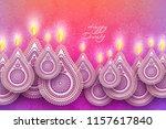 diwali festival holiday design... | Shutterstock .eps vector #1157617840