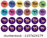 chinese horoscope 2019  2020 ...   Shutterstock .eps vector #1157624179