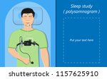 sleep study test polysomnography | Shutterstock .eps vector #1157625910