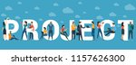 project vector concept for web... | Shutterstock .eps vector #1157626300