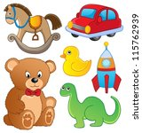 various toys collection 1  ... | Shutterstock .eps vector #115762939