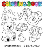 coloring book toys theme 1  ... | Shutterstock .eps vector #115762960