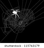 illustration with spider web... | Shutterstock .eps vector #115763179