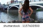 beautiful slender millennial... | Shutterstock . vector #1157633503