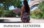 beautiful slender millennial... | Shutterstock . vector #1157633506