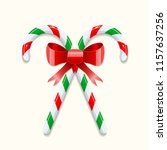 two crossed sweet christmas... | Shutterstock .eps vector #1157637256