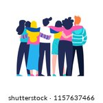 diverse friend group of people... | Shutterstock .eps vector #1157637466