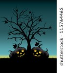 background halloween night | Shutterstock .eps vector #115764463