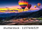 colorful hot air balloons... | Shutterstock . vector #1157646529