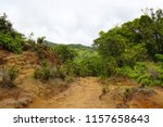 hiking trail on the na pali... | Shutterstock . vector #1157658643