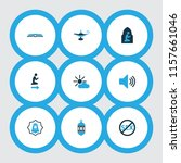 holiday icons colored set with... | Shutterstock . vector #1157661046