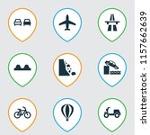 transportation icons set with...   Shutterstock .eps vector #1157662639