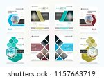abstract vector business... | Shutterstock .eps vector #1157663719