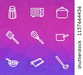 kitchenware icons line style... | Shutterstock .eps vector #1157664436