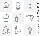 hairdresser icons line style...   Shutterstock .eps vector #1157665819