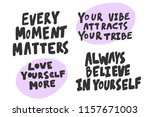 every moment matters  love... | Shutterstock .eps vector #1157671003
