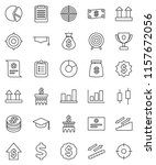 thin line vector icon set  ... | Shutterstock .eps vector #1157672056
