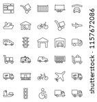 thin line vector icon set  ... | Shutterstock .eps vector #1157672086