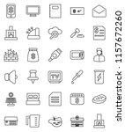 thin line vector icon set  ... | Shutterstock .eps vector #1157672260