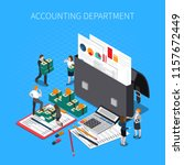 accounting department isometric ... | Shutterstock .eps vector #1157672449