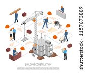 isometric builder architect... | Shutterstock .eps vector #1157673889