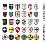 Set Of Vector Medieval Shields