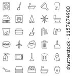thin line vector icon set  ... | Shutterstock .eps vector #1157674900