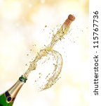 champagne explosion with... | Shutterstock . vector #115767736