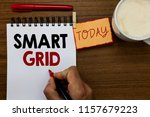text sign showing smart grid.... | Shutterstock . vector #1157679223