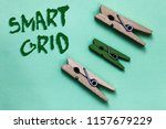 text sign showing smart grid.... | Shutterstock . vector #1157679229