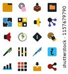 color and black flat icon set   ... | Shutterstock .eps vector #1157679790