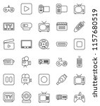 thin line vector icon set  ... | Shutterstock .eps vector #1157680519