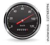 speedometer. black car... | Shutterstock .eps vector #1157683996
