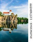 mountain church in beucha near... | Shutterstock . vector #1157684599