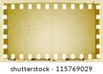 vintage sepia film strip frame | Shutterstock . vector #115769029